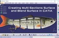 ابزارهای Multi-Sections Surface و Blend در محیط Generative Shape Design کتیا