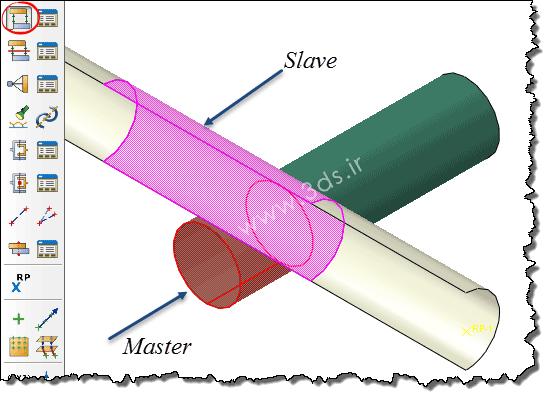 رفتار تماسی از نوع Surface to Surface در تحلیل لوله در برخورد توسط آباکوس