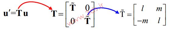 Transformation Matrix در المان میله