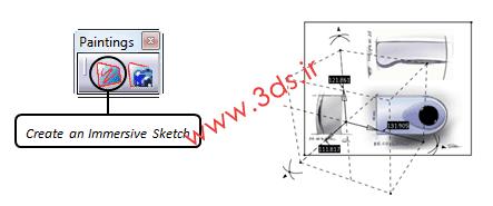 ایجاد یک طرح شناور در محیط Sketch Tracer کتیا
