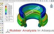 مدلسازی-تحلیل قطعه لاستیکی در آباکوس