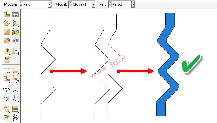 آنالیز و مدلسازی قطعه لاستیکی در Abaqus
