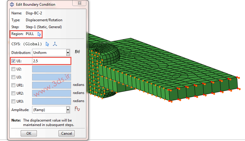 بارگذاری در تحلیل و مدلسازی پرچ توسط آباکوس