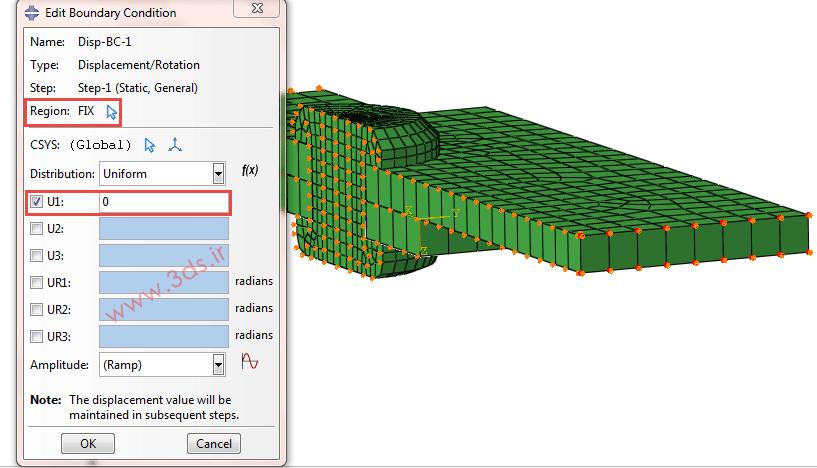 شرط مرزی در تحلیل و مدلسازی پرچ توسط آباکوس