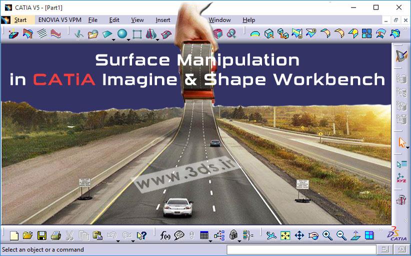 تغییر فرم سطح در محیط Imagine & Shape کتیا