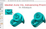 مقایسه الگوریتمهای Medial Axis و Advancing Front در مشبندی آباکوس