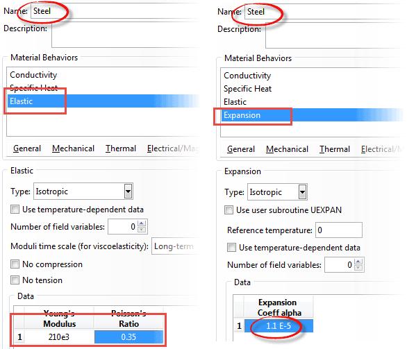 تعریف ضریب انبساط حرارتی (expansion coefficient alpha) در آباکوس