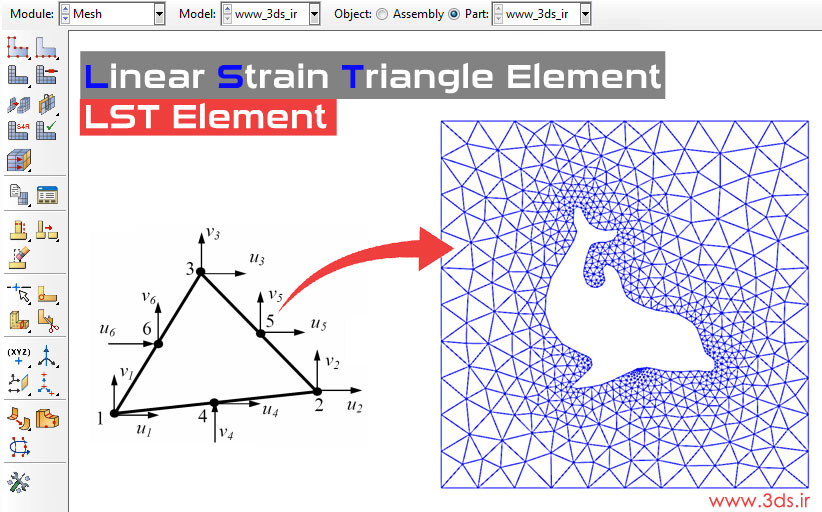 المان مثلثی درجه دو