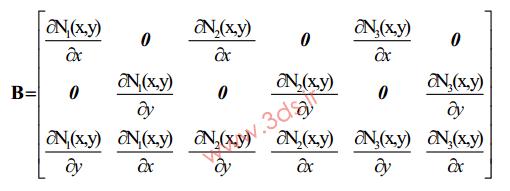 کرنش المان triangular