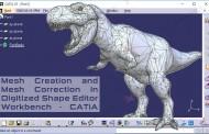 ایجاد مش روی ابر نقاط و اصلاح آن در محیط Digitized Shape Editor کتیا