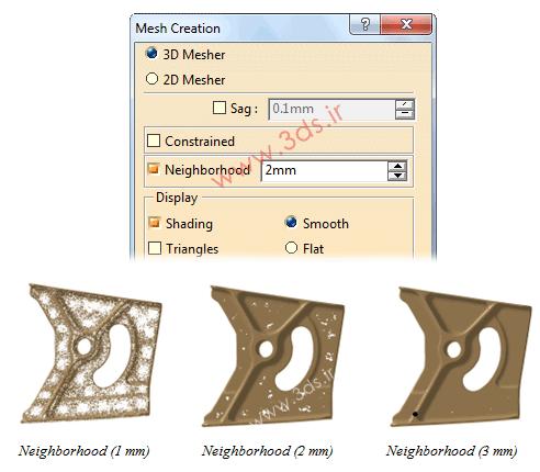 ایجاد مش بر روی ابر نقاط در محیط Digitized Shape Editor نرمافزار کتیا