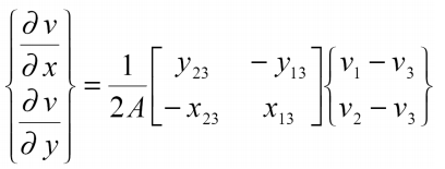 تغییر مکان بر حسب ژاکوبین ماتریس انتقال