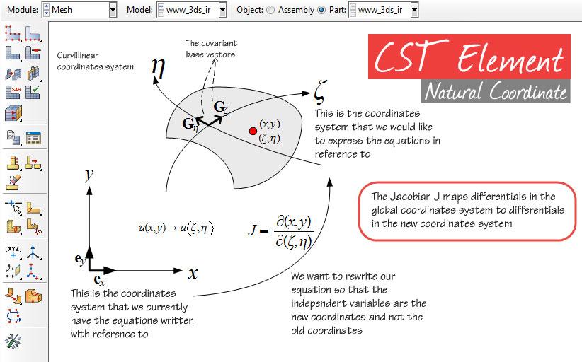 مختصات طبیعی المان مثلثی خطی