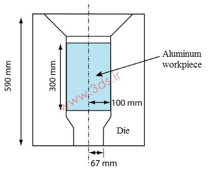 شکلدهی قطعه استوانهای به روش اکستروژن در آباکوس