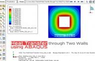 آموزش انتقال حرارت حالت پایا از دو دیواره توسط آباکوس