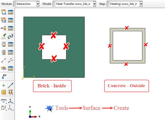تعریف خواص انتقال حرارت و دمای محیط در ماژول Interaction آباکوس