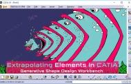 امتداد یک سطح یا منحنی در محیط Generative Shape Design نرمافزار کتیا