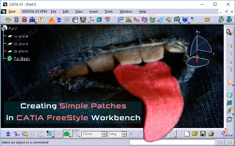 ابزارهای تولید سطوح ساده در محیط FreeStyle نرمافزار کتیا