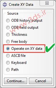 گزینه Operate on XY Data در آباکوس