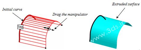 تنظیمات ابزار Extrusion نرمافزار کتیا