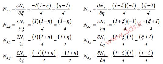 توابع میانیاب المان ایزوپارامتریک
