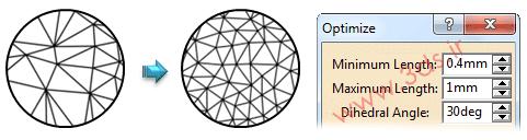 ابزار Optimize در محیط ابر نقاط نرمافزار کتیا