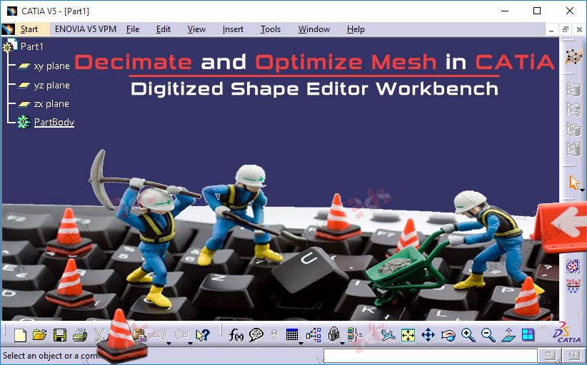ابزار Decimate و Optimize در محیط ابر نقاط نرمافزار کتیا