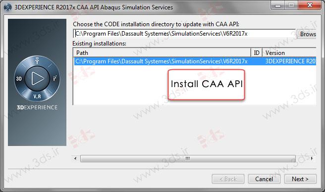 نصب CAA API آباکوس