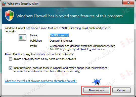 خطا فایروال ویندوز در حین نصب آباکوس 2017