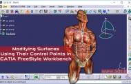 تغییر شکل سطوح به کمک نقاط کنترل در محیط FreeStyle نرمافزار کتیا