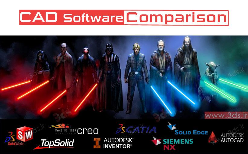 مقایسه نرمافزارهای طراحی CAD ؛ Inventor – Solidworks – CATiA