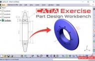 تمرین مدلسازی در محیط Part Design کتیا - تمرین هفتم