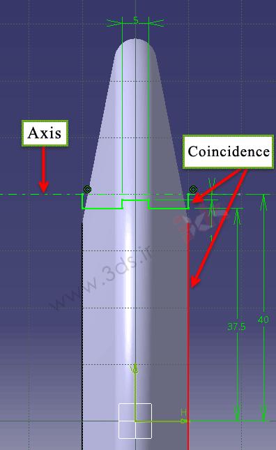 قید Coincidence در کتیا