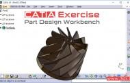 تمرین محیط Part Design کتیا - تمرین هشتم + دانلود فایل CATPart