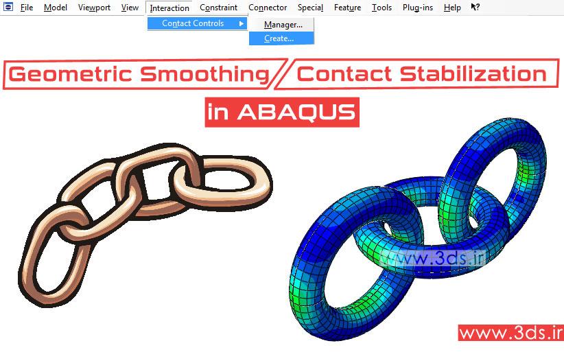 هموارسازی هندسی و پایدارسازی تماس در آباکوس