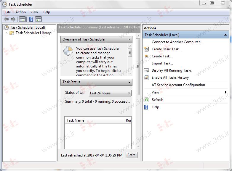 زمانبندی اجرا برنامه در ویندوز