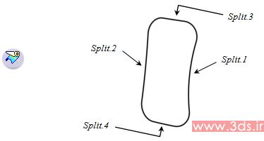 استفاده از ابزار Split در نرمافزار کتیا