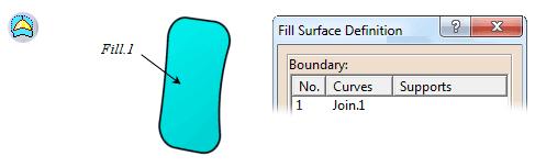 استفاده از ابزار Fill در محیط Generative Shape Design نرمافزار کتیا