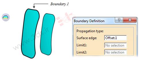 استفاده از ابزار Boundary در محیط Generative Shape Design نرمافزار کتیا