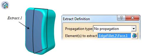 ابزار Extract جعبهابزار Operations کتیا