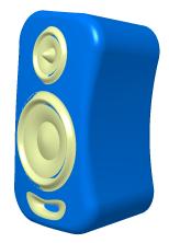 فایل CATPart طراحی اسپیکر کامپیوتر در محیط طراحی سطوح Generative Shape Design نرمافزار کتیا