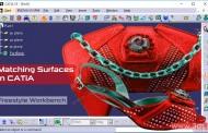 اتصال سطوح با ابزار Match Surface در محیط FreeStyle نرمافزار کتیا