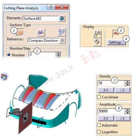 آموزش ابزار Cutting Plane Analysis در محیط FreeStyle نرمافزار کتیا