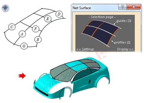 آموزش ابزار Net Surface در محیط FreeStyle نرمافزار کتیا