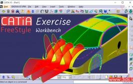 تمرین محیط FreeStyle نرمافزار کتیا: طراحی بدنه خودرو