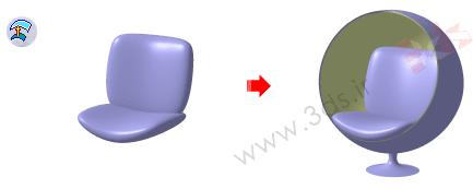 استفاده از ابزار Offset در محیط Imagine & Shape نرمافزار کتیا