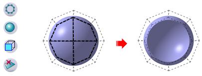 استفاده از ابزارهای Sphere و Erasing در محیط Imagine & Shape نرمافزار کتیا