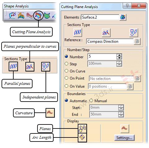 ابزار Cutting Plane Analysis در محیط FreeStyle نرمافزار کتیا