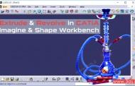 ترسیم سطح به کمک منحنی در محیط Imagine & Shape نرمافزار کتیا