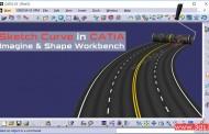 ترسیم منحنی در محیط Imagine & Shape نرمافزار کتیا